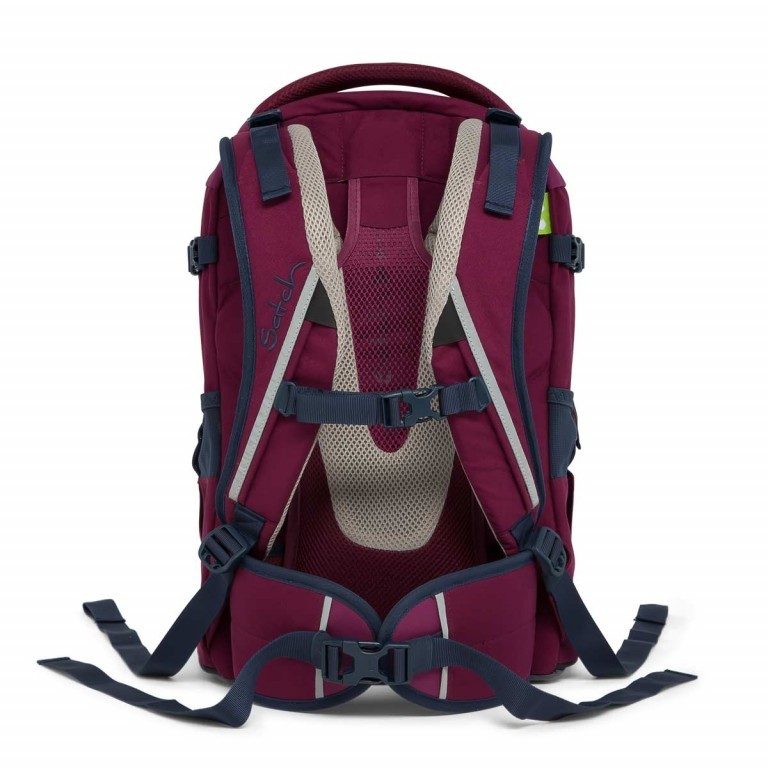 Satch Pack Rucksack Pure Purple, Farbe: rot/weinrot, Manufacturer: Satch, EAN: 4057081005178, Dimensions (cm): 30.0x45.0x22.0, Image 5 of 7