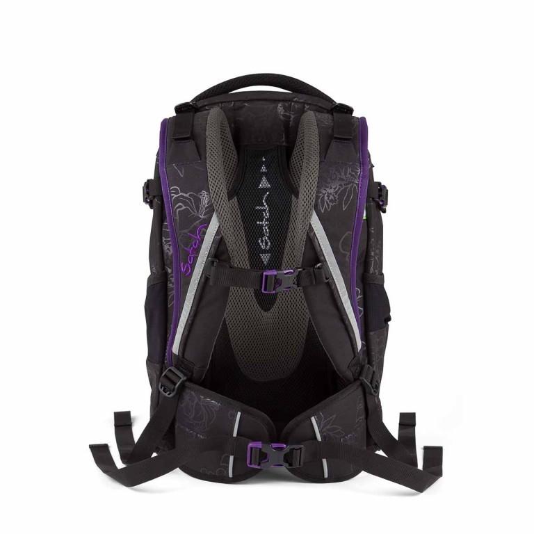 Satch Pack Rucksack Purple Hibiscus, Farbe: schwarz, flieder/lila, Marke: Satch, EAN: 4260389768267, Abmessungen in cm: 30.0x45.0x22.0, Bild 4 von 4