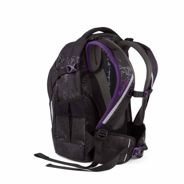 Satch Pack Rucksack Purple Hibiscus, Farbe: schwarz, flieder/lila, Marke: Satch, EAN: 4260389768267, Abmessungen in cm: 30.0x45.0x22.0, Bild 3 von 4