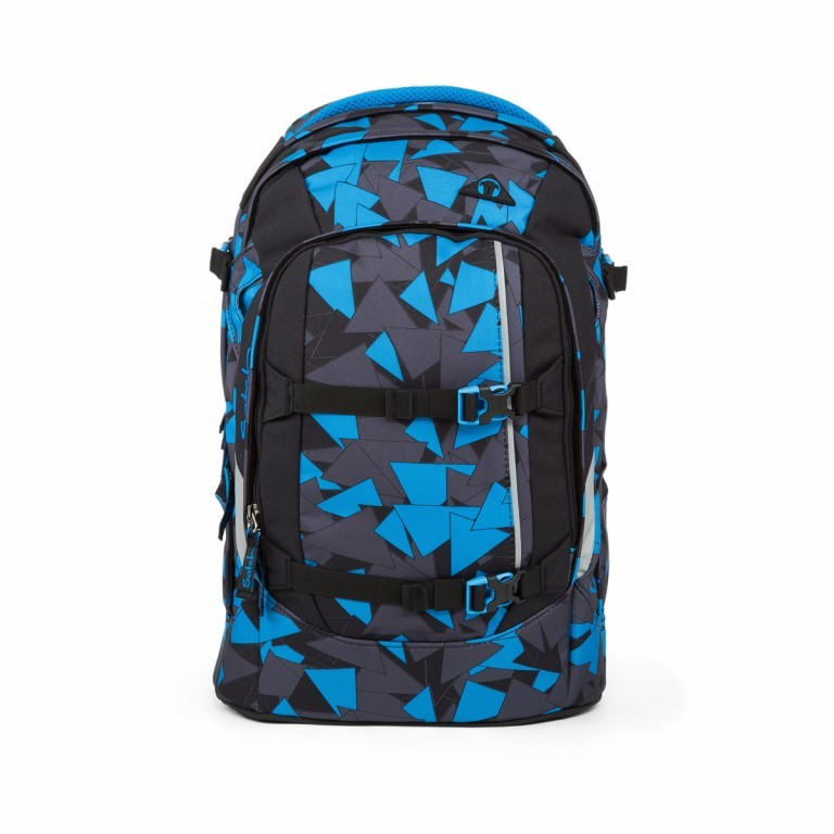 Satch Pack Rucksack Blue Triangle, Manufacturer: Satch, EAN: 4057081012459, Dimensions (cm): 30.0x45.0x22.0, Image 1 of 4