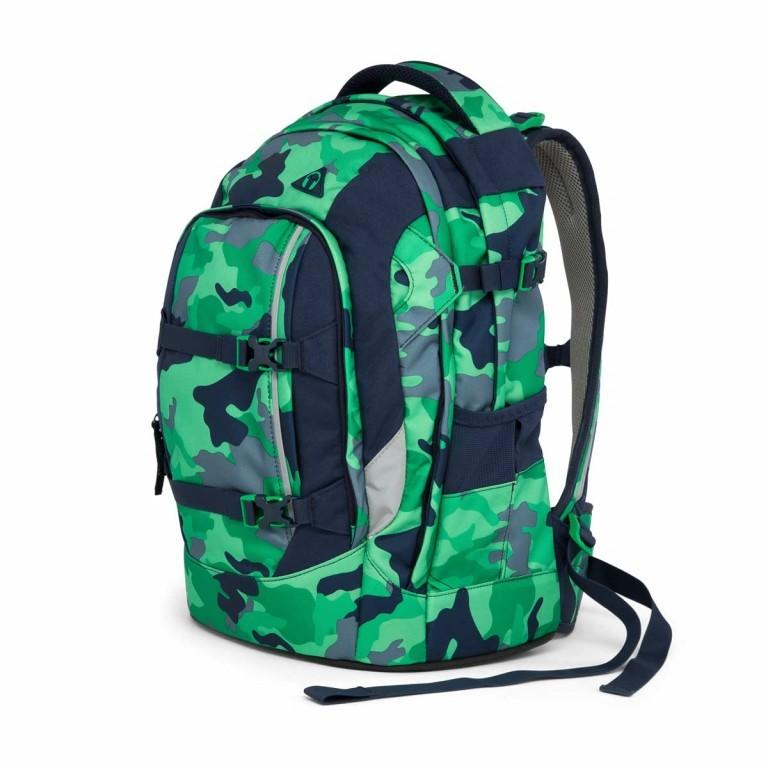 Satch Pack Rucksack Camouflage Grün, Farbe: grün/oliv, Marke: Satch, EAN: 4057081005154, Abmessungen in cm: 30.0x45.0x22.0, Bild 2 von 7