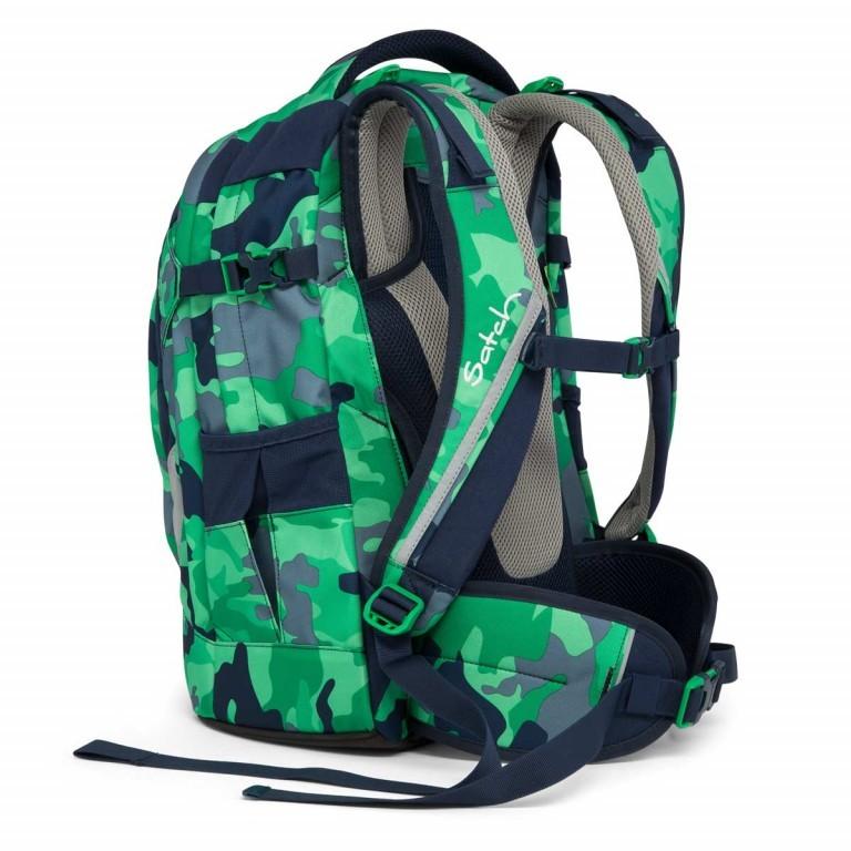 Satch Pack Rucksack Camouflage Grün, Farbe: grün/oliv, Marke: Satch, EAN: 4057081005154, Abmessungen in cm: 30.0x45.0x22.0, Bild 4 von 7