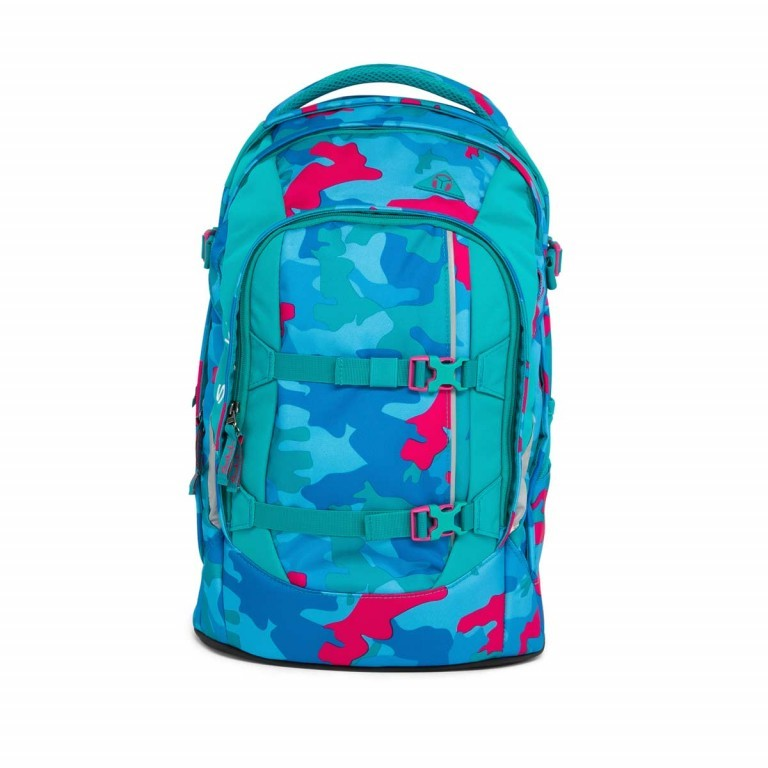 Satch Pack Rucksack Caribic Camouflage Pink, Manufacturer: Satch, EAN: 4057081005185, Dimensions (cm): 30.0x45.0x22.0, Image 1 of 7