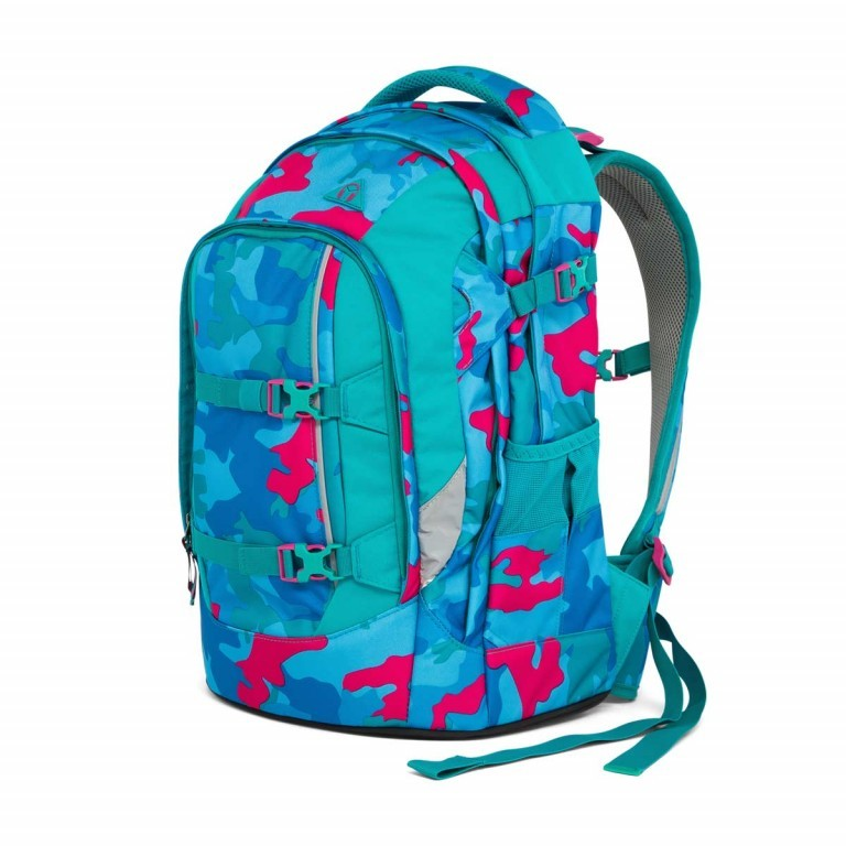 Satch Pack Rucksack Caribic Camouflage Pink, Manufacturer: Satch, EAN: 4057081005185, Dimensions (cm): 30.0x45.0x22.0, Image 2 of 7