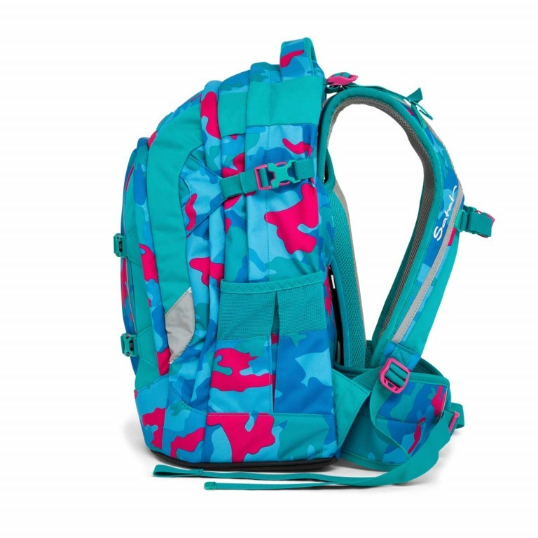Satch Pack Rucksack Caribic Camouflage Pink, Manufacturer: Satch, EAN: 4057081005185, Dimensions (cm): 30.0x45.0x22.0, Image 3 of 7