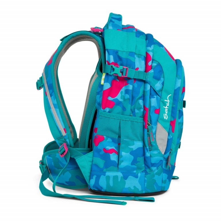 Satch Pack Rucksack Caribic Camouflage Pink, Manufacturer: Satch, EAN: 4057081005185, Dimensions (cm): 30.0x45.0x22.0, Image 7 of 7