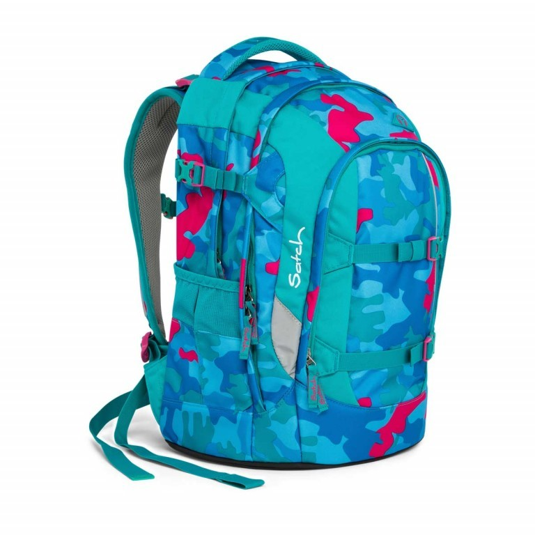 Satch Pack Rucksack Caribic Camouflage Pink, Manufacturer: Satch, EAN: 4057081005185, Dimensions (cm): 30.0x45.0x22.0, Image 6 of 7