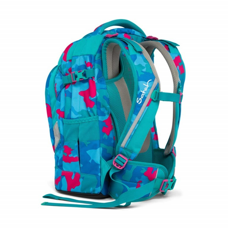Satch Pack Rucksack Caribic Camouflage Pink, Manufacturer: Satch, EAN: 4057081005185, Dimensions (cm): 30.0x45.0x22.0, Image 4 of 7