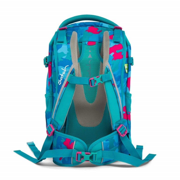 Satch Pack Rucksack Caribic Camouflage Pink, Manufacturer: Satch, EAN: 4057081005185, Dimensions (cm): 30.0x45.0x22.0, Image 5 of 7