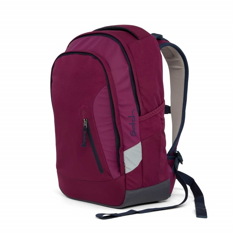 Satch Sleek Rucksack Pure Purple, Farbe: rot/weinrot, Manufacturer: Satch, EAN: 4057081005352, Dimensions (cm): 27.0x45.0x15.0, Image 4 of 7