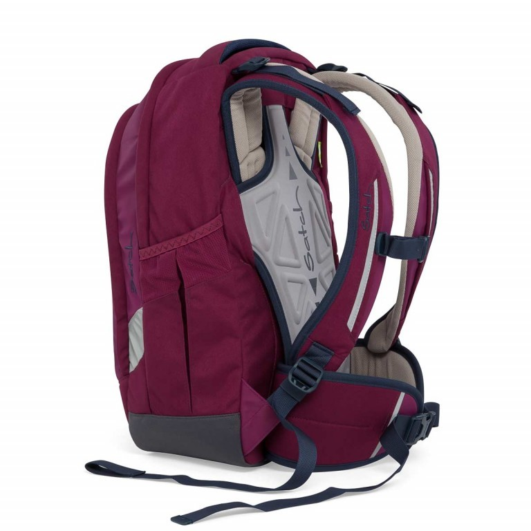 Satch Sleek Rucksack Pure Purple, Farbe: rot/weinrot, Manufacturer: Satch, EAN: 4057081005352, Dimensions (cm): 27.0x45.0x15.0, Image 7 of 7