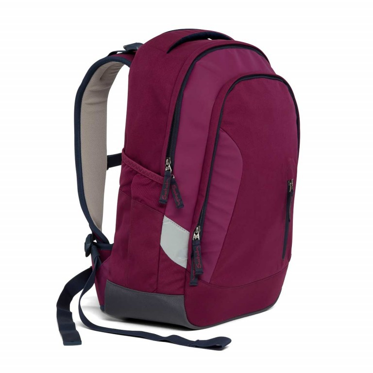 Satch Sleek Rucksack Pure Purple, Farbe: rot/weinrot, Manufacturer: Satch, EAN: 4057081005352, Dimensions (cm): 27.0x45.0x15.0, Image 3 of 7