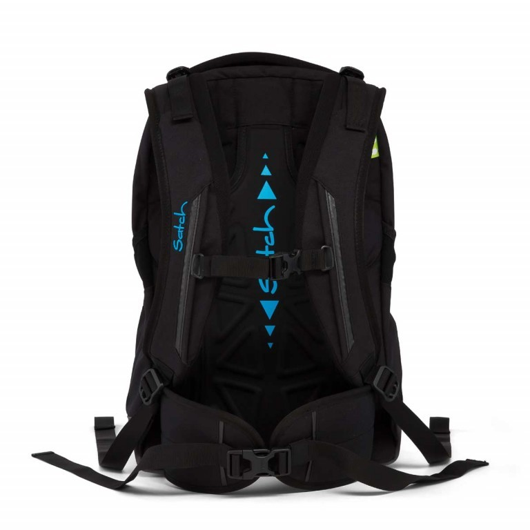Satch Sleek Rucksack Black Bounce, Farbe: schwarz, Manufacturer: Satch, EAN: 4057081005321, Dimensions (cm): 27.0x45.0x15.0, Image 2 of 5