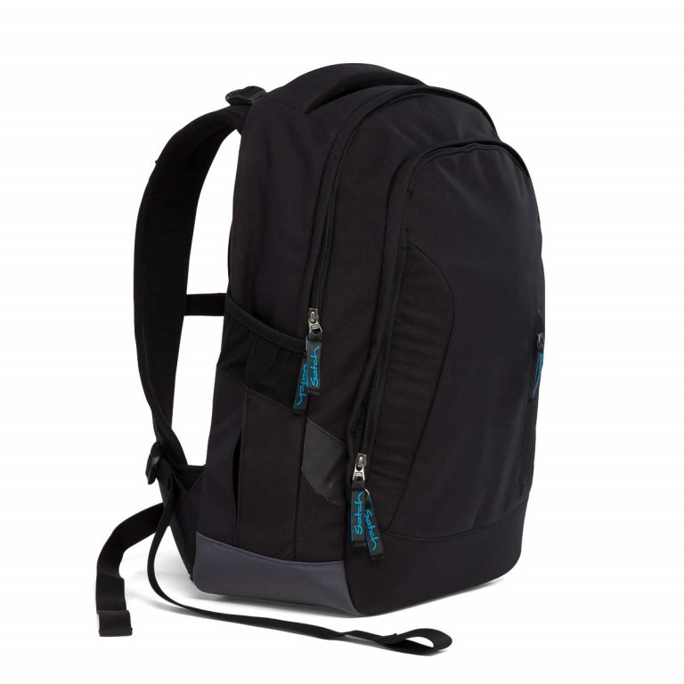 Satch Sleek Rucksack Black Bounce, Farbe: schwarz, Manufacturer: Satch, EAN: 4057081005321, Dimensions (cm): 27.0x45.0x15.0, Image 3 of 5