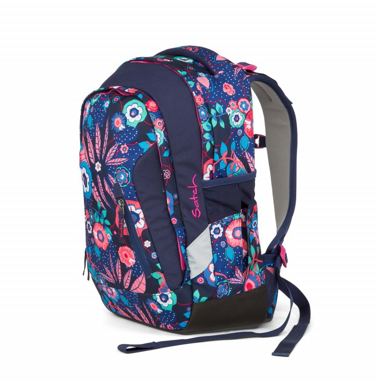 Satch Sleek Rucksack Cheeky Blue, Farbe: bunt, Manufacturer: Satch, EAN: 4057081012589, Dimensions (cm): 27.0x45.0x15.0, Image 2 of 4