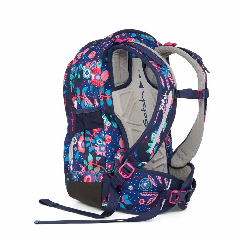 Satch Sleek Rucksack Cheeky Blue, Farbe: bunt, Manufacturer: Satch, EAN: 4057081012589, Dimensions (cm): 27.0x45.0x15.0, Image 3 of 4