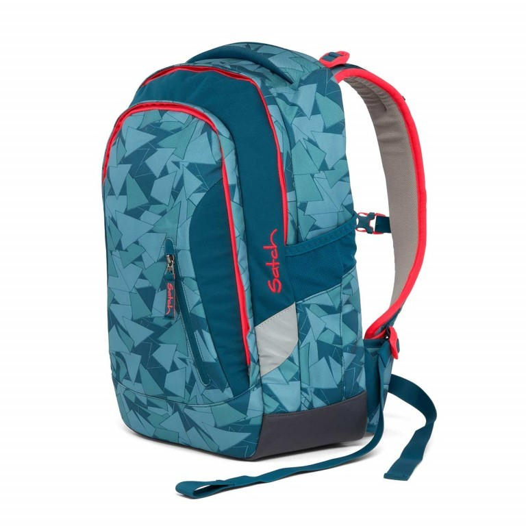 Satch Sleek Rucksack Petrol Triangle, Farbe: blau/petrol, Manufacturer: Satch, EAN: 4057081005291, Dimensions (cm): 27.0x45.0x15.0, Image 4 of 7