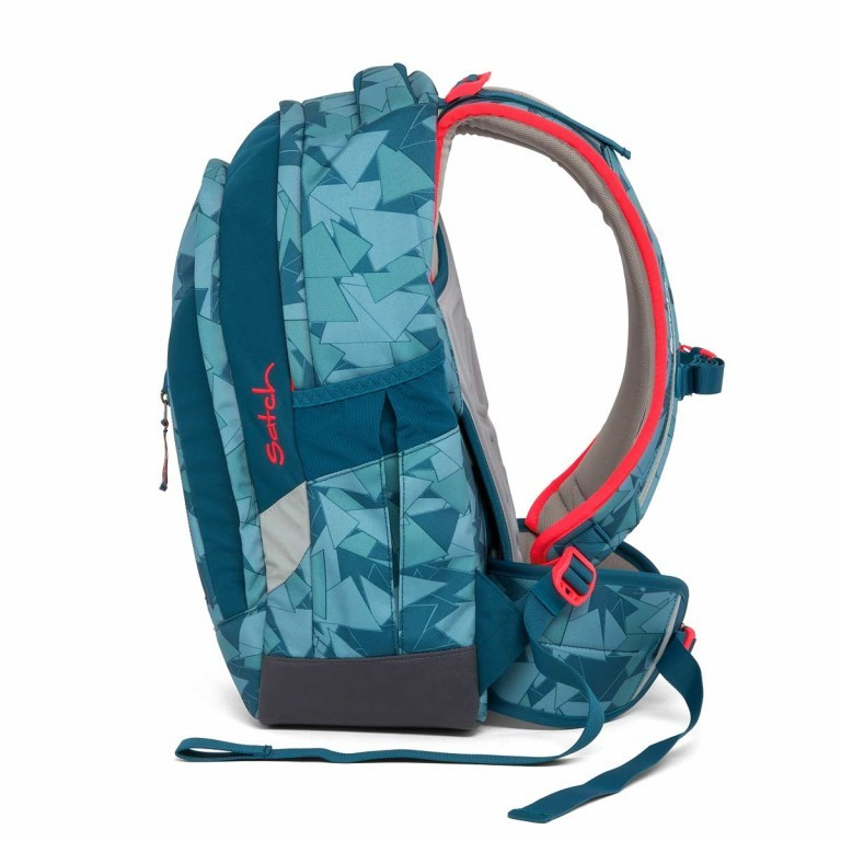 Satch Sleek Rucksack Petrol Triangle, Farbe: blau/petrol, Manufacturer: Satch, EAN: 4057081005291, Dimensions (cm): 27.0x45.0x15.0, Image 6 of 7