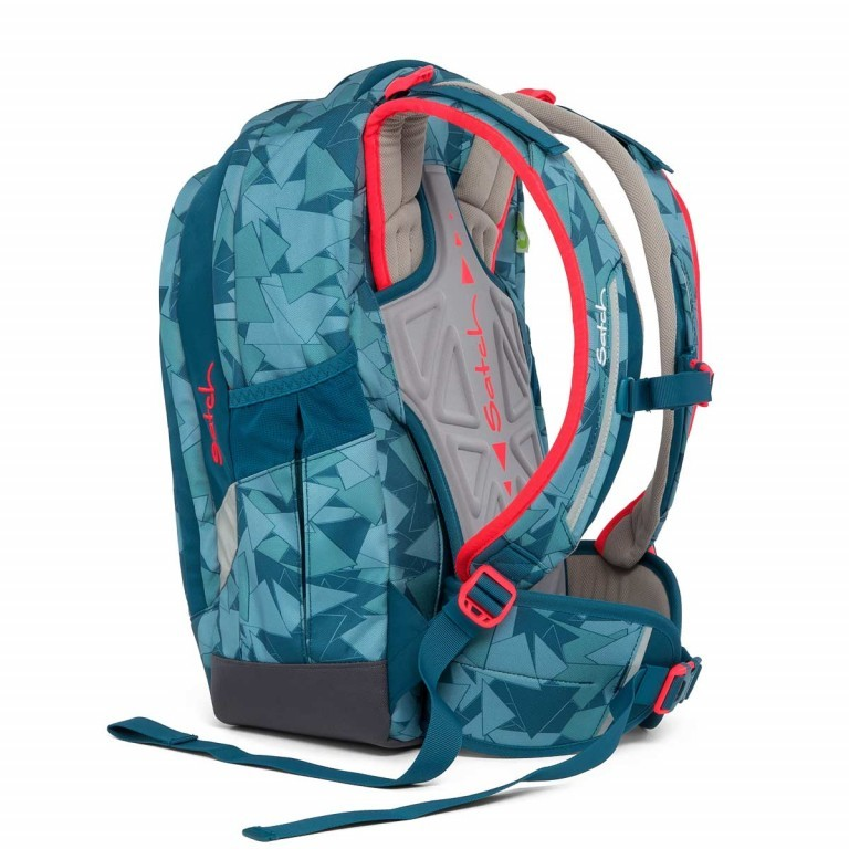 Satch Sleek Rucksack Petrol Triangle, Farbe: blau/petrol, Manufacturer: Satch, EAN: 4057081005291, Dimensions (cm): 27.0x45.0x15.0, Image 7 of 7