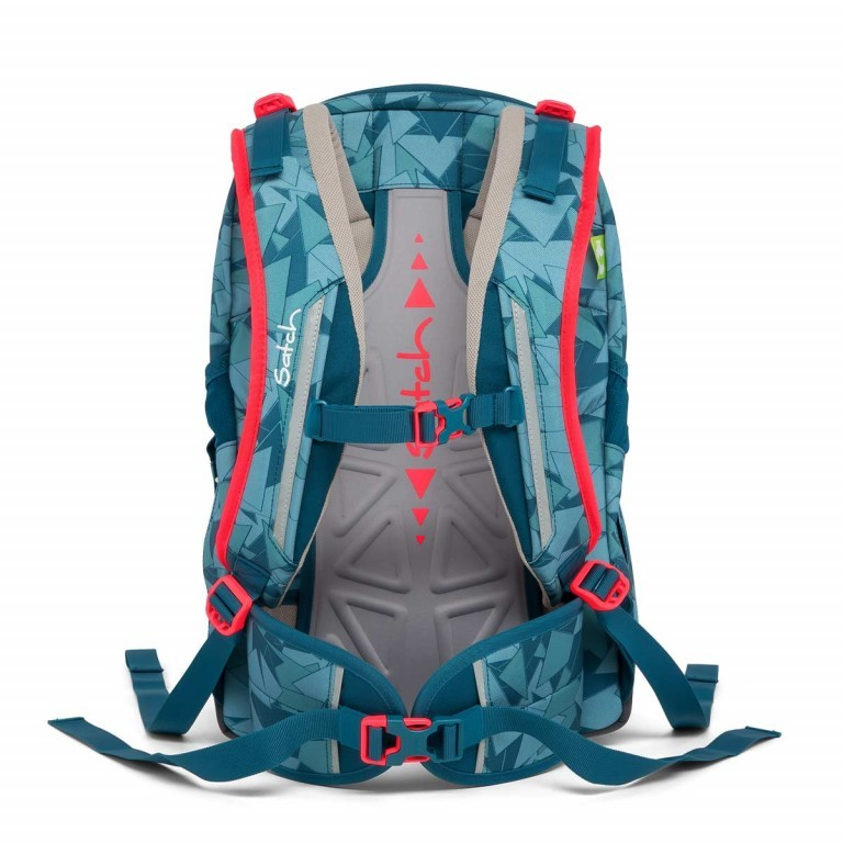 Satch Sleek Rucksack Petrol Triangle, Farbe: blau/petrol, Manufacturer: Satch, EAN: 4057081005291, Dimensions (cm): 27.0x45.0x15.0, Image 2 of 7