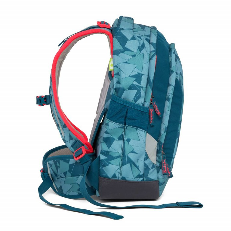 Satch Sleek Rucksack Petrol Triangle, Farbe: blau/petrol, Manufacturer: Satch, EAN: 4057081005291, Dimensions (cm): 27.0x45.0x15.0, Image 5 of 7