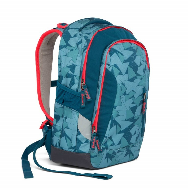 Satch Sleek Rucksack Petrol Triangle, Farbe: blau/petrol, Manufacturer: Satch, EAN: 4057081005291, Dimensions (cm): 27.0x45.0x15.0, Image 3 of 7