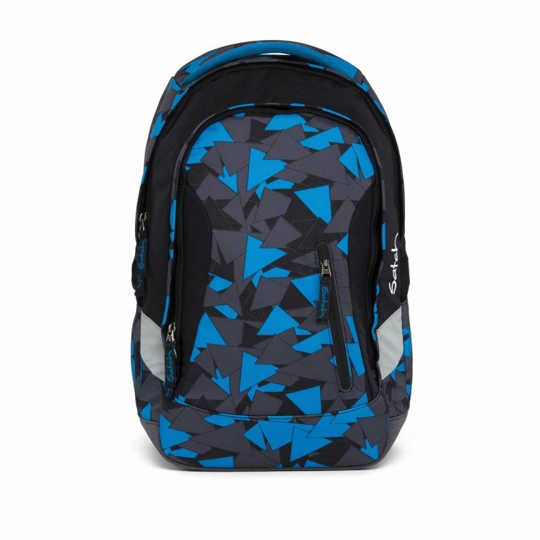 Satch Sleek Rucksack Blue Triangle, Manufacturer: Satch, EAN: 4057081005284, Dimensions (cm): 27.0x45.0x15.0, Image 1 of 7