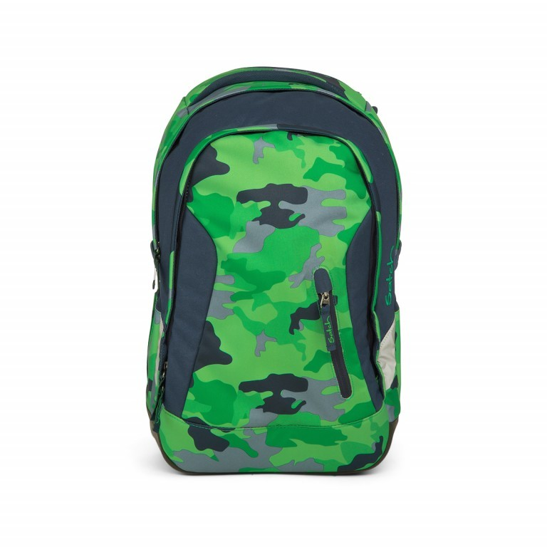 Satch Sleek Rucksack Green Camou, Farbe: grün/oliv, Manufacturer: Satch, EAN: 4057081012596, Dimensions (cm): 27.0x45.0x15.0, Image 1 of 4
