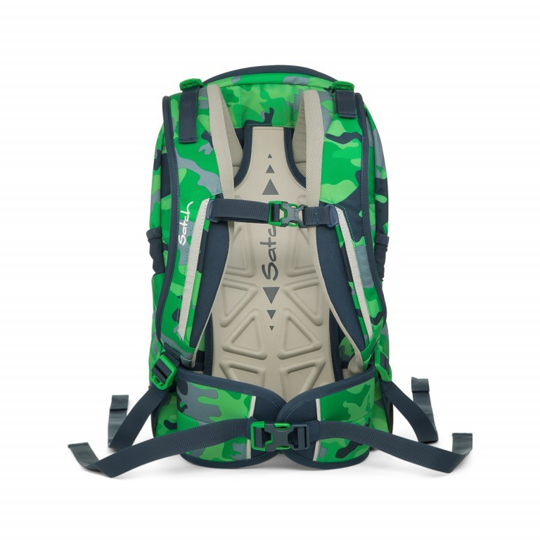 Satch Sleek Rucksack Green Camou, Farbe: grün/oliv, Manufacturer: Satch, EAN: 4057081012596, Dimensions (cm): 27.0x45.0x15.0, Image 4 of 4