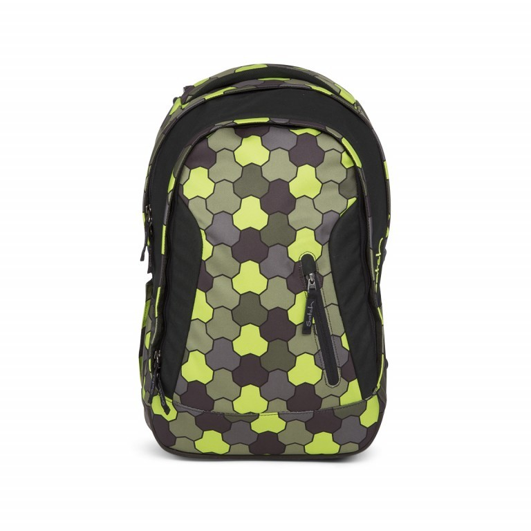 Satch Sleek Rucksack Jungle Flow, Marke: Satch, EAN: 4057081012602, Abmessungen in cm: 27.0x45.0x15.0, Bild 1 von 4