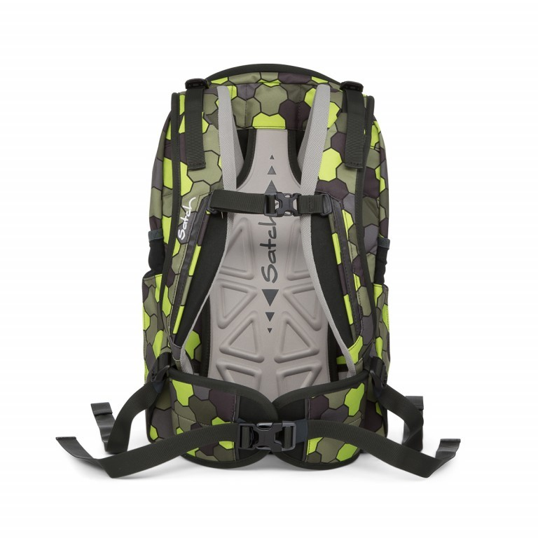 Satch Sleek Rucksack Jungle Flow, Marke: Satch, EAN: 4057081012602, Abmessungen in cm: 27.0x45.0x15.0, Bild 4 von 4