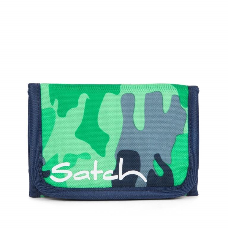 Satch Geldbeutel Green Camou, Farbe: grün/oliv, Marke: Satch, EAN: 4057081012787, Abmessungen in cm: 13.0x8.5x2.0, Bild 2 von 5