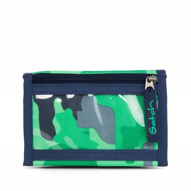 Satch Geldbeutel Green Camou, Farbe: grün/oliv, Marke: Satch, EAN: 4057081012787, Abmessungen in cm: 13.0x8.5x2.0, Bild 5 von 5