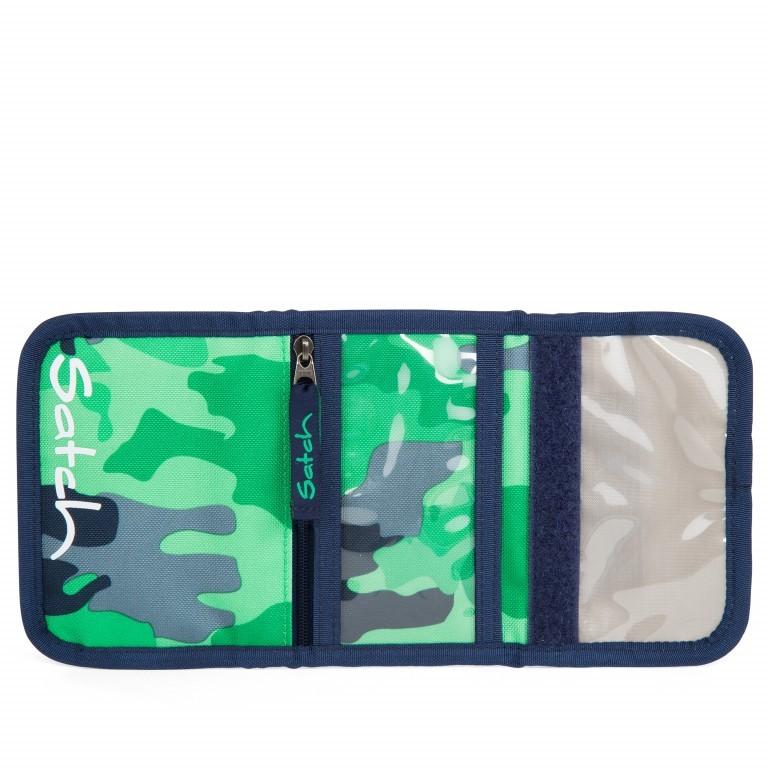 Satch Geldbeutel Green Camou, Farbe: grün/oliv, Marke: Satch, EAN: 4057081012787, Abmessungen in cm: 13.0x8.5x2.0, Bild 3 von 5
