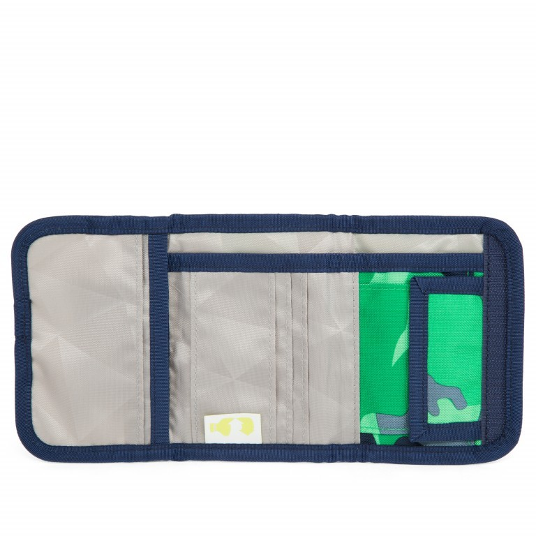 Satch Geldbeutel Green Camou, Farbe: grün/oliv, Marke: Satch, EAN: 4057081012787, Abmessungen in cm: 13.0x8.5x2.0, Bild 4 von 5