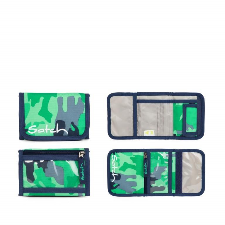 Satch Geldbeutel Green Camou, Farbe: grün/oliv, Marke: Satch, EAN: 4057081012787, Abmessungen in cm: 13.0x8.5x2.0, Bild 1 von 5
