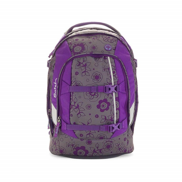 Satch Pack Rucksack Bloomy Baby, Farbe: flieder/lila, Manufacturer: Satch, EAN: 4260389760087, Dimensions (cm): 30.0x45.0x22.0, Image 1 of 3