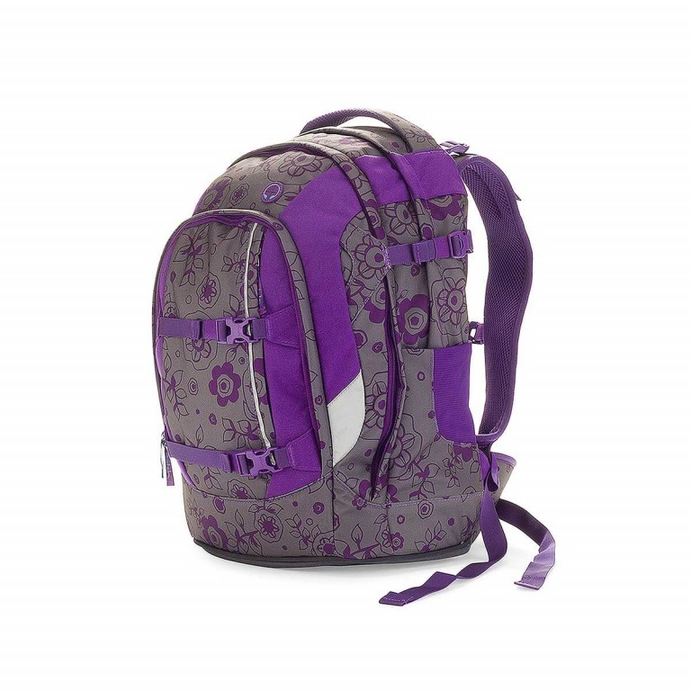 Satch Pack Rucksack Bloomy Baby, Farbe: flieder/lila, Manufacturer: Satch, EAN: 4260389760087, Dimensions (cm): 30.0x45.0x22.0, Image 2 of 3