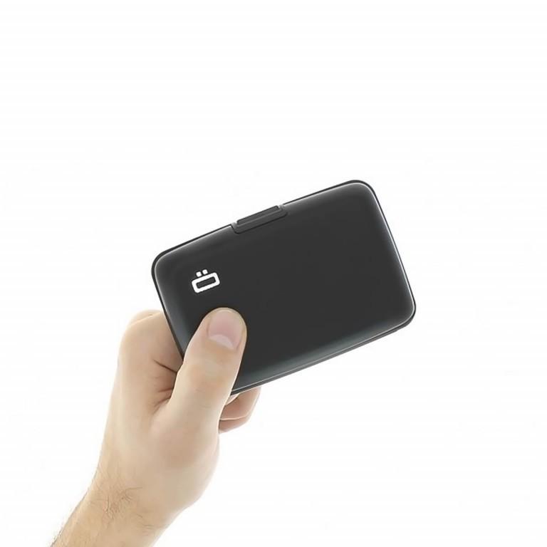 ÖGON Card-Case Stockholm Black, Farbe: schwarz, Marke: Ögon, Abmessungen in cm: 10.9x7.2x1.9, Bild 2 von 7