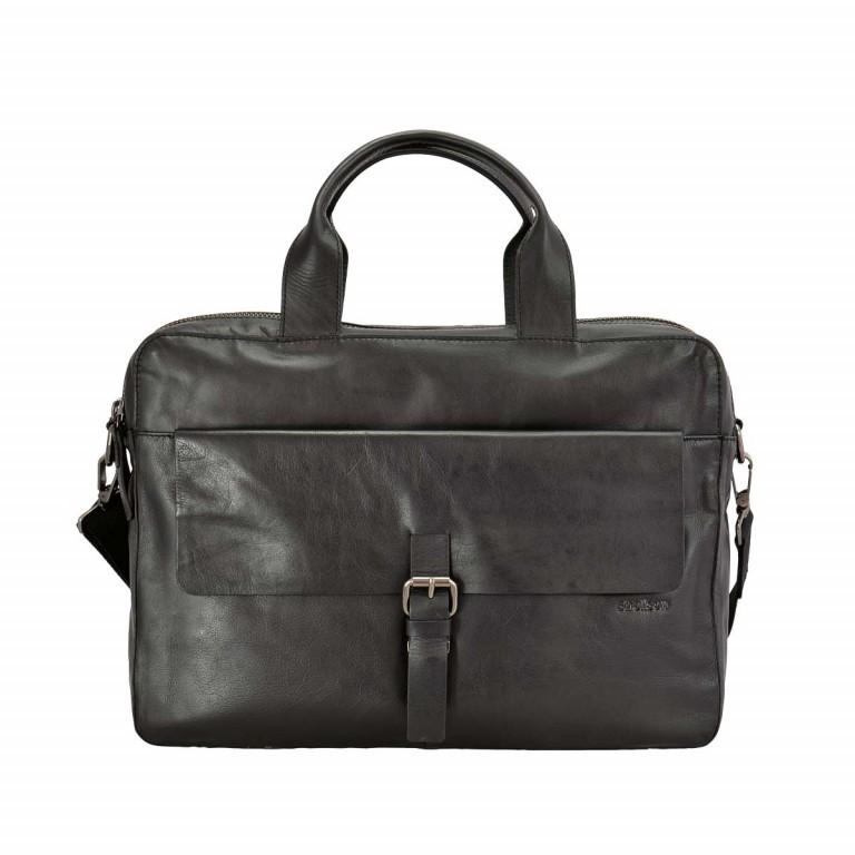 Strellson Scott Soft Briefcase Black, Farbe: schwarz, Marke: Strellson, EAN: 4053533140879, Abmessungen in cm: 40.0x29.0x10.0, Bild 1 von 1