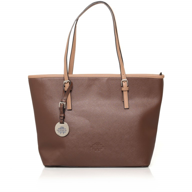 LICHTBLAU Shopper Braun, Farbe: braun, Marke: Lichtblau, Abmessungen in cm: 46.0x31.0x8.0, Bild 1 von 5