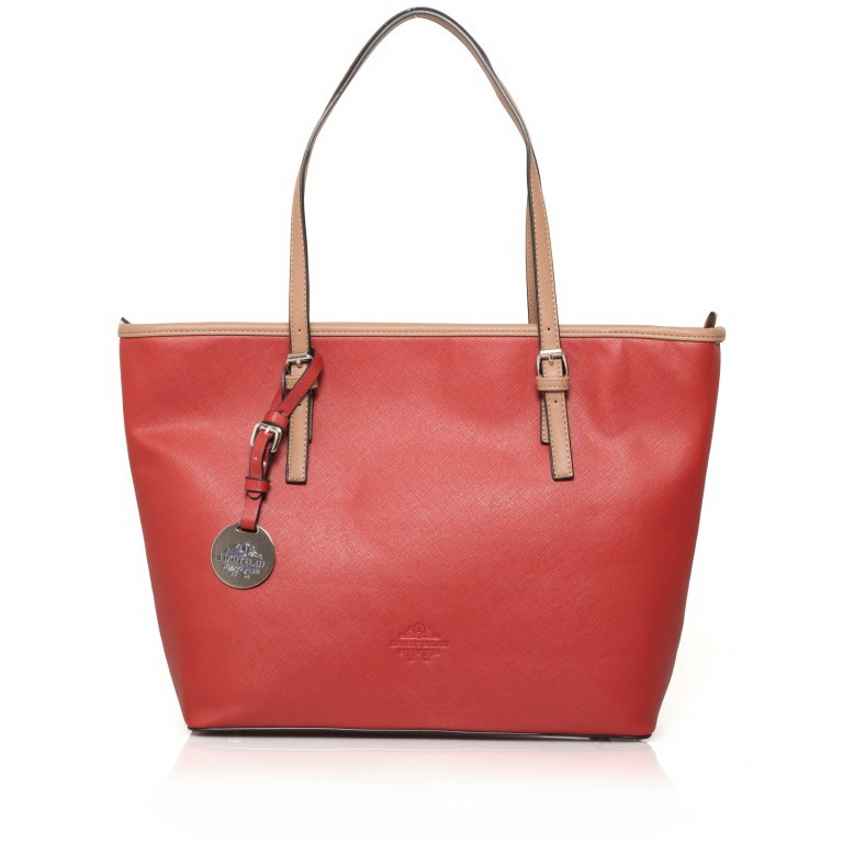 LICHTBLAU Shopper Rot, Farbe: rot/weinrot, Marke: Lichtblau, Abmessungen in cm: 46.0x31.0x8.0, Bild 1 von 5