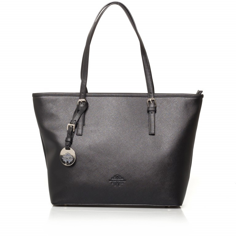 LICHTBLAU Shopper Schwarz, Farbe: schwarz, Marke: Lichtblau, Abmessungen in cm: 46.0x31.0x8.0, Bild 1 von 5
