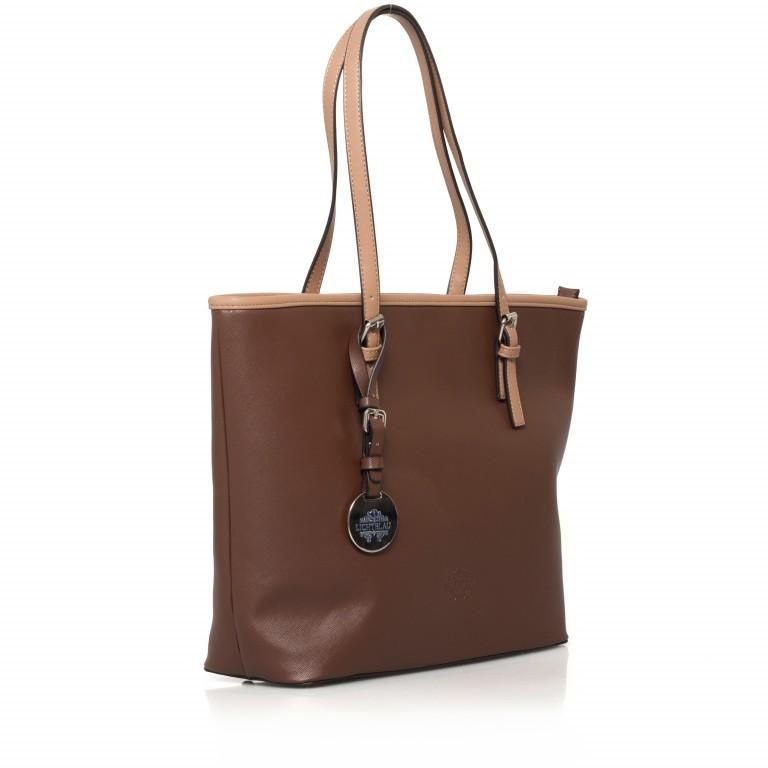 LICHTBLAU Shopper Braun, Farbe: braun, Marke: Lichtblau, Abmessungen in cm: 46.0x31.0x8.0, Bild 2 von 5