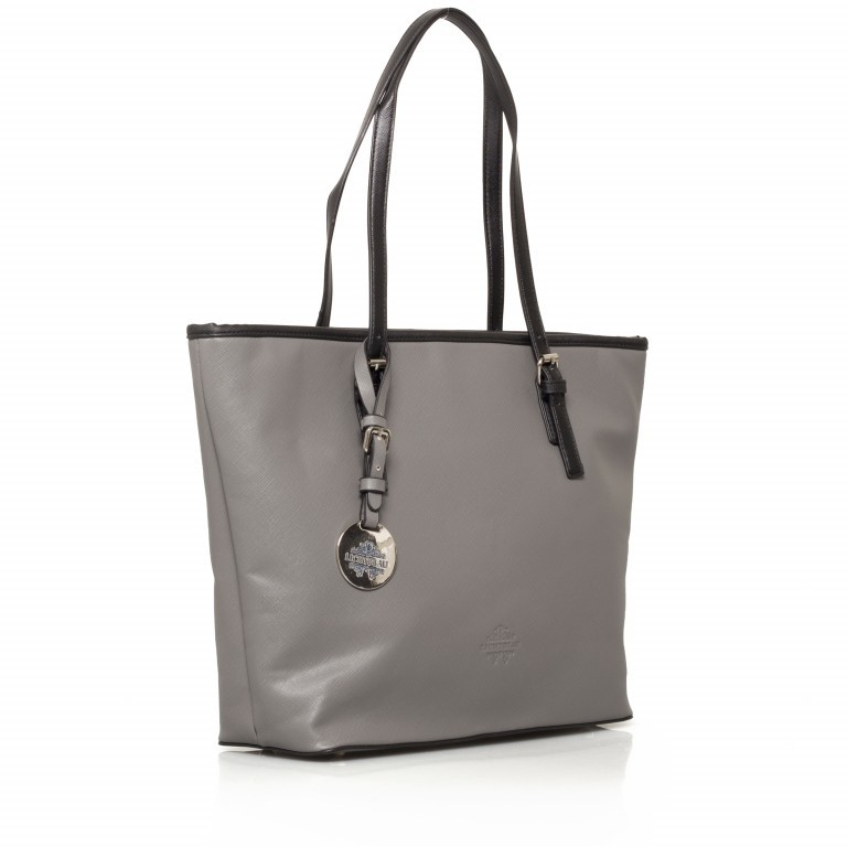 LICHTBLAU Shopper Grau, Farbe: grau, Marke: Lichtblau, Abmessungen in cm: 46.0x31.0x8.0, Bild 2 von 5