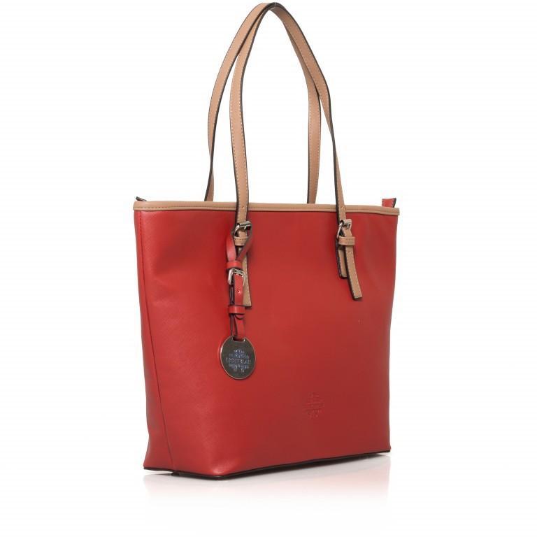 LICHTBLAU Shopper Rot, Farbe: rot/weinrot, Marke: Lichtblau, Abmessungen in cm: 46.0x31.0x8.0, Bild 2 von 5