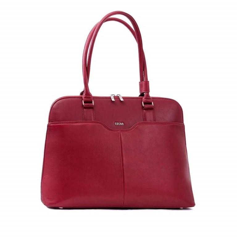 Socha Business Bag Couture Rouge, Farbe: rot/weinrot, Marke: Socha, EAN: 4029276048178, Abmessungen in cm: 44.5x32.5x14.0, Bild 1 von 5