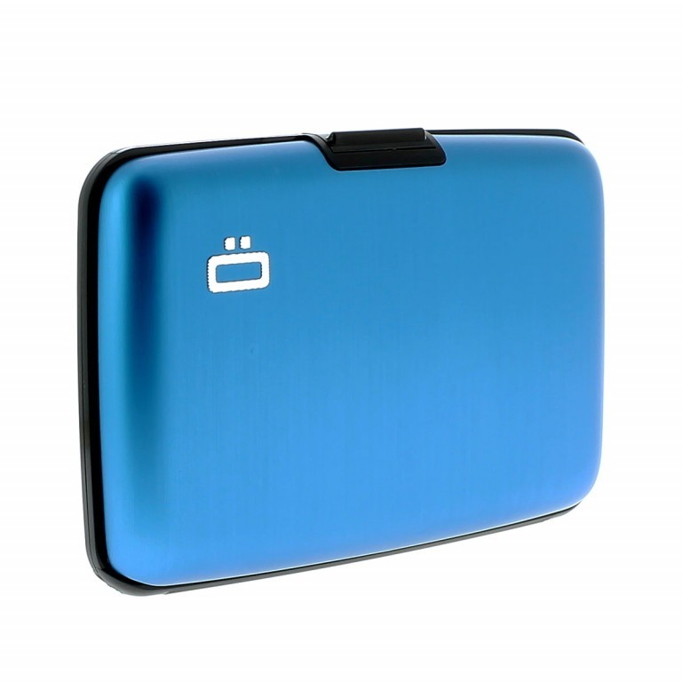 ÖGON Card-Case Stockholm Blue, Farbe: blau/petrol, Marke: Ögon, Abmessungen in cm: 10.9x7.2x1.9, Bild 5 von 7
