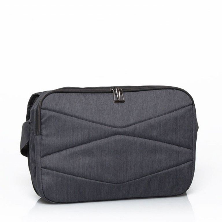 Travelite Basics Messenger Bag Anthrazit, Farbe: anthrazit, Marke: Travelite, Abmessungen in cm: 41.0x30.0x11.0, Bild 3 von 5