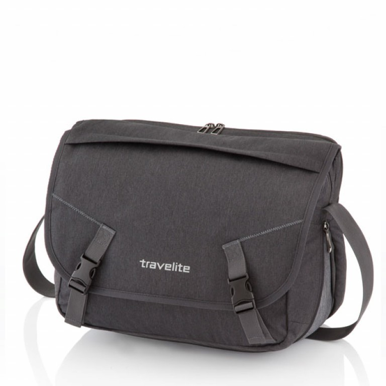Travelite Basics Messenger Bag Anthrazit, Farbe: anthrazit, Marke: Travelite, Abmessungen in cm: 41.0x30.0x11.0, Bild 1 von 5